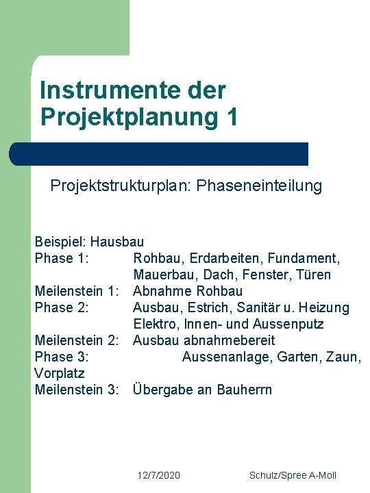 Projektstrukturplan Projektmanagement Handbuch