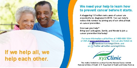 We need your help to learn how to prevent cancer before it starts. A