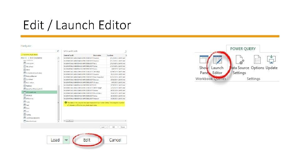 Edit / Launch Editor