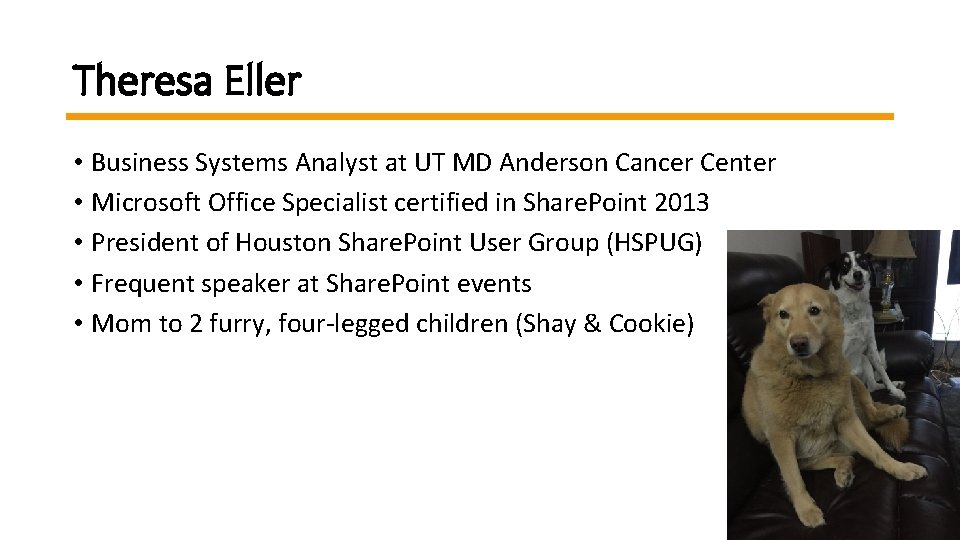 Theresa Eller • Business Systems Analyst at UT MD Anderson Cancer Center Business Systems