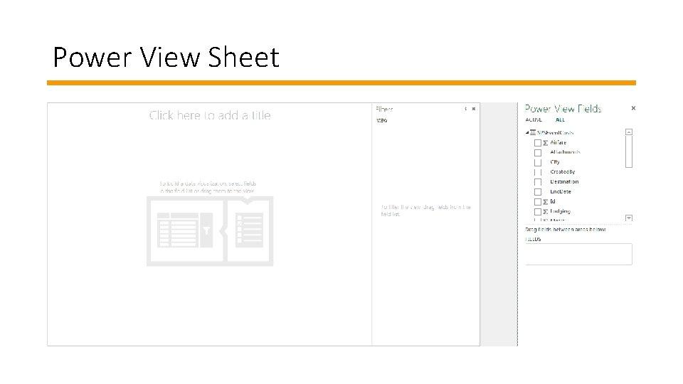 Power View Sheet