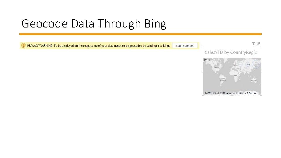 Geocode Data Through Bing