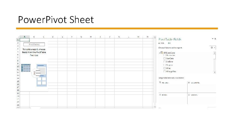 Power. Pivot Sheet