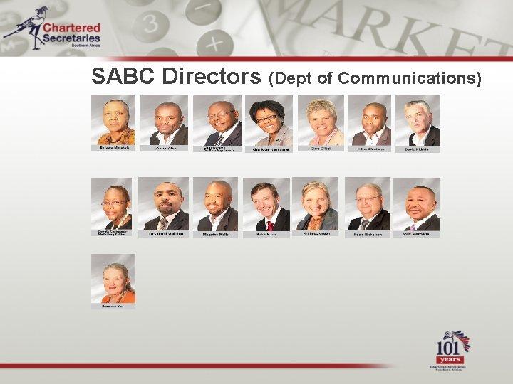 SABC Directors (Dept of Communications)