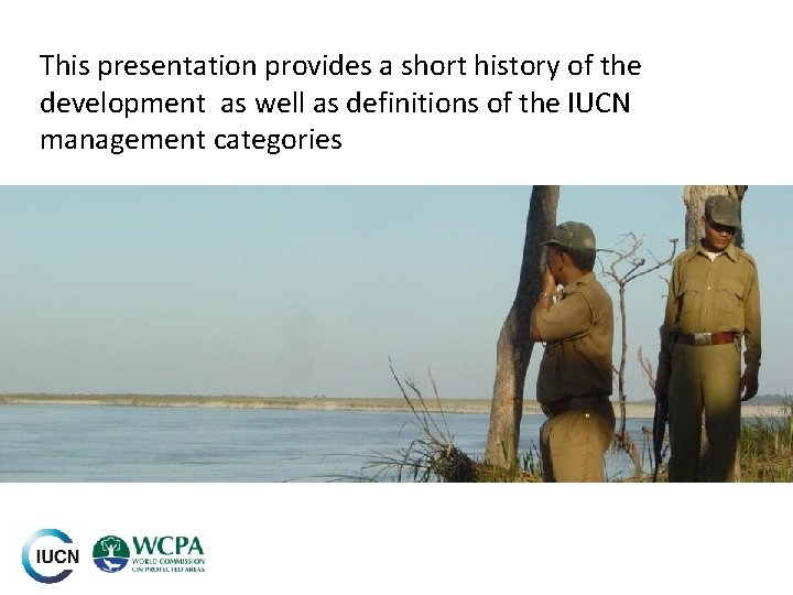This presentation provides a short history of the development as well as definitions of
