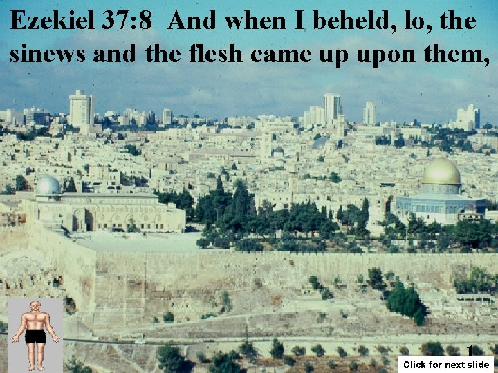 Ezekiel 37: 8 And when I beheld, lo, the sinews and the flesh came