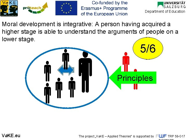 Department of Education Moral development is integrative: A person having acquired a higher stage