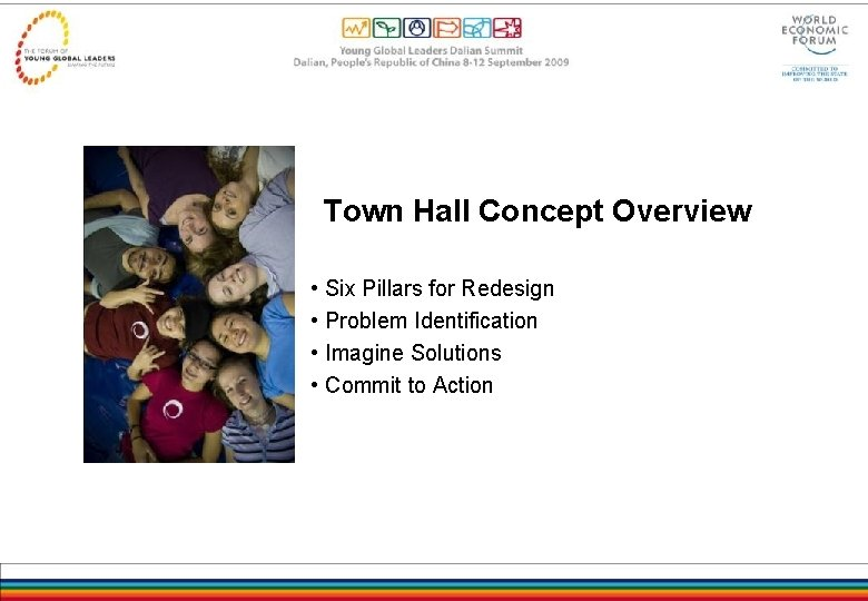 Town Hall Concept Overview • Six Pillars for Redesign • Problem Identification • Imagine