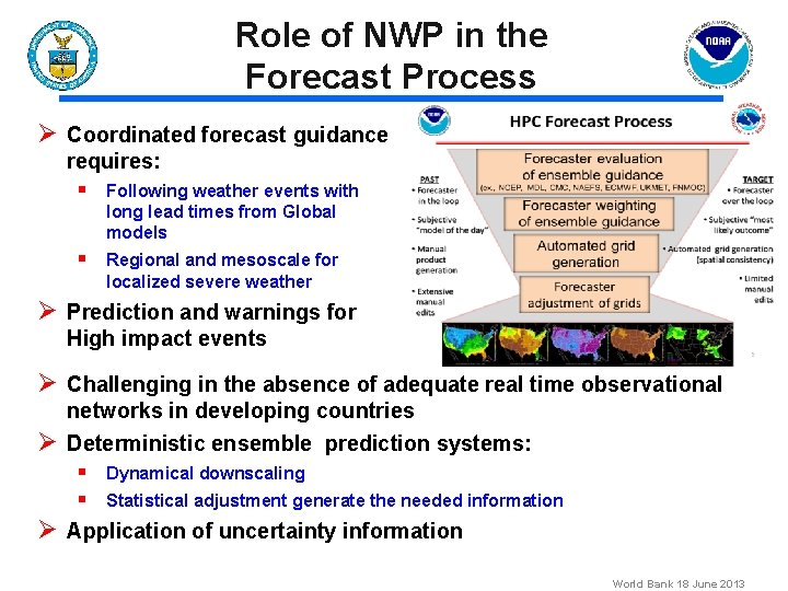 Role of NWP in the Forecast Process Ø Coordinated forecast guidance requires: § Following