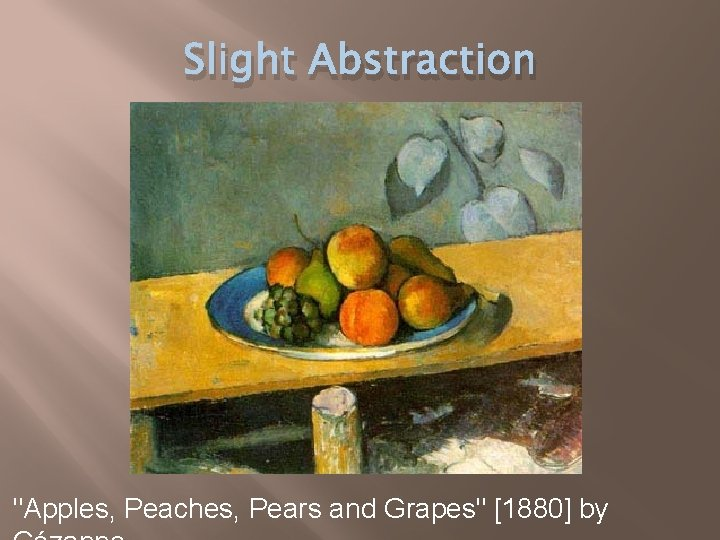 """Slight Abstraction """"Apples, Peaches, Pears and Grapes"""" [1880] by"""