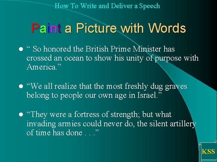 How To Write and Deliver a Speech Paint a Picture with Words l ""