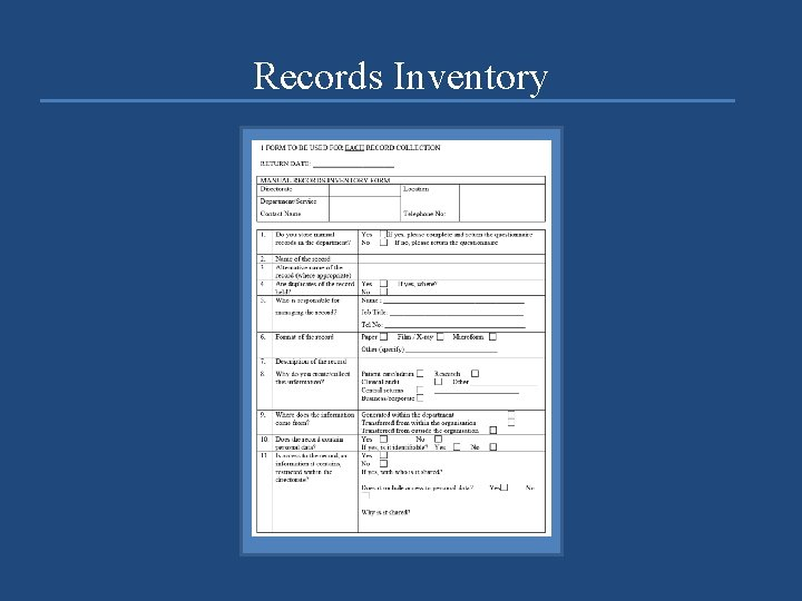 Records Inventory
