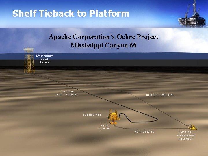 Shelf Tieback to Platform Apache Corporation's Ochre Project Mississippi Canyon 66 Taylor Platform MC