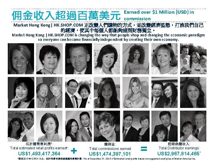 Earned over $1 Million (USD) in commission Market Hong Kong| HK. SHOP. COM 正改變人們購物的方式,並改變經濟型態,打造我們自己