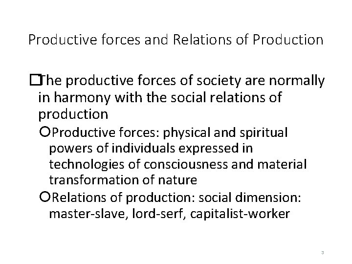 Social Relations Of Production