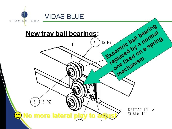 VIDAS BLUE New tray ball bearings: g n i ar al e b rm