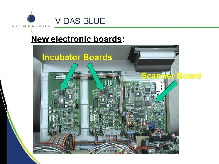 VIDAS BLUE New electronic boards: Incubator Boards Scanner Board