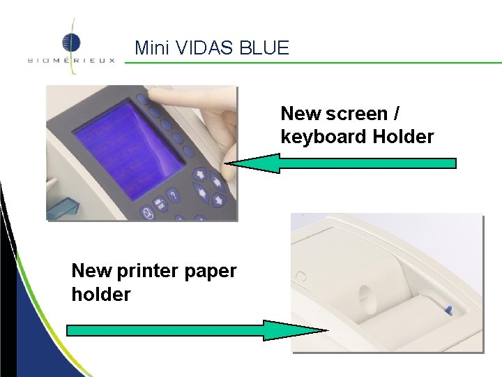 Mini VIDAS BLUE New screen / keyboard Holder New printer paper holder