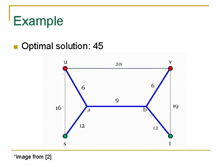 Example Optimal solution: 45 *image from [2]