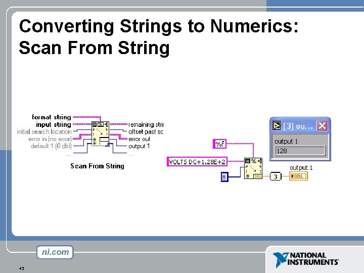 Converting Strings to Numerics: Scan From String 43