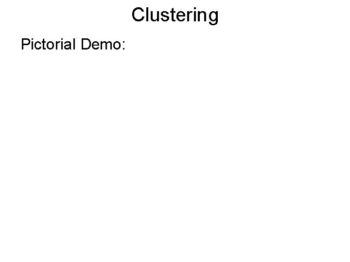Clustering Pictorial Demo: