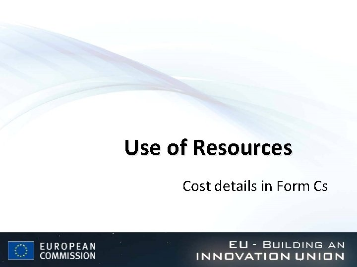 Use of Resources Cost details in Form Cs
