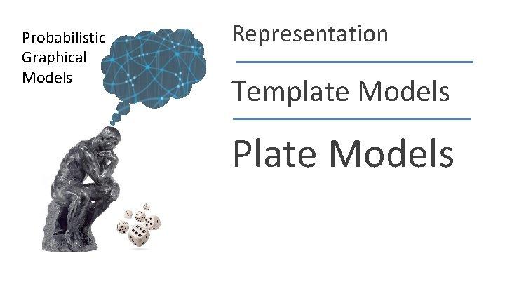 Probabilistic Graphical Models Representation Template Models Plate Models Daphne Koller
