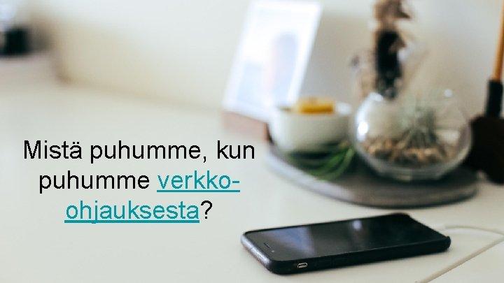 Mistä puhumme, kun puhumme verkkoohjauksesta?
