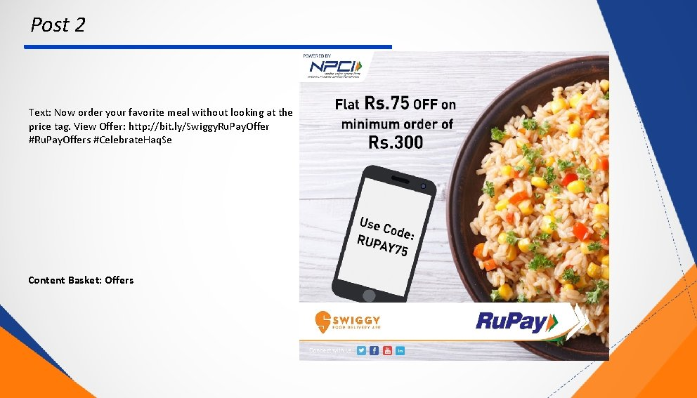 Post 2 Text: Now order your favorite meal without looking at the price tag.