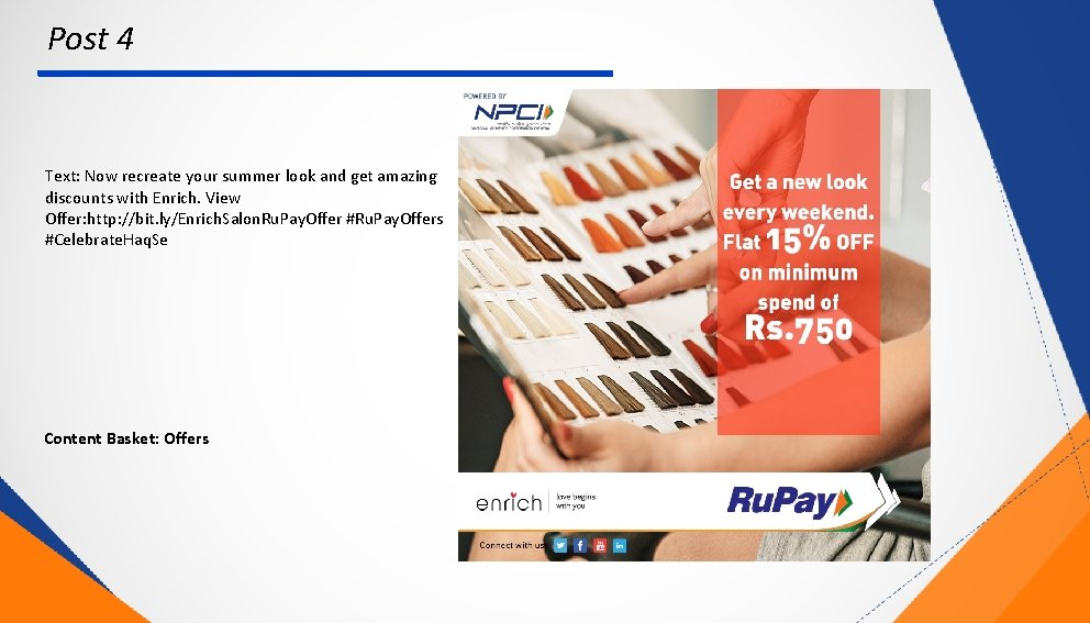 Post 4 Text: Now recreate your summer look and get amazing discounts with Enrich.
