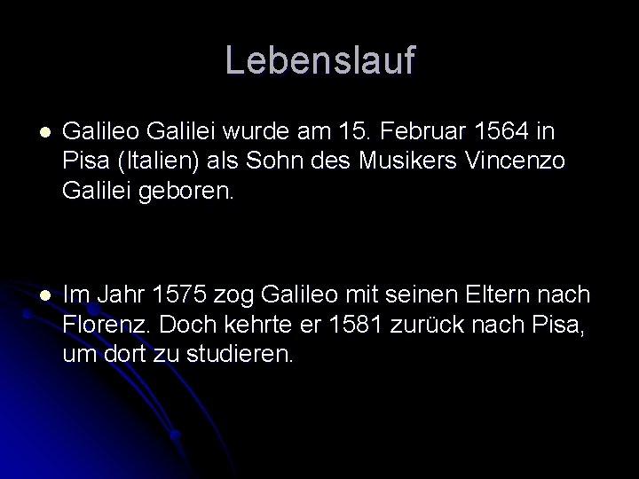 Galileo Galilei Eine Biografie Leben Und Werk 1 2 Youtube