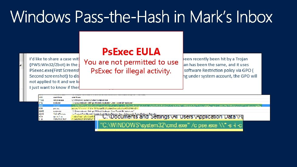 Ps. Exec EULA You are not permitted to use Ps. Exec for illegal activity.