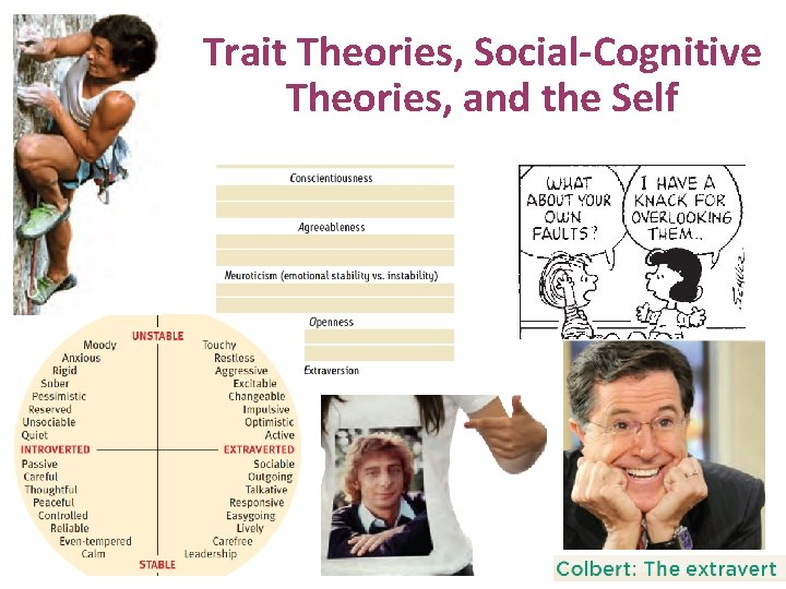 Trait Theories, Social-Cognitive Theories, and the Self