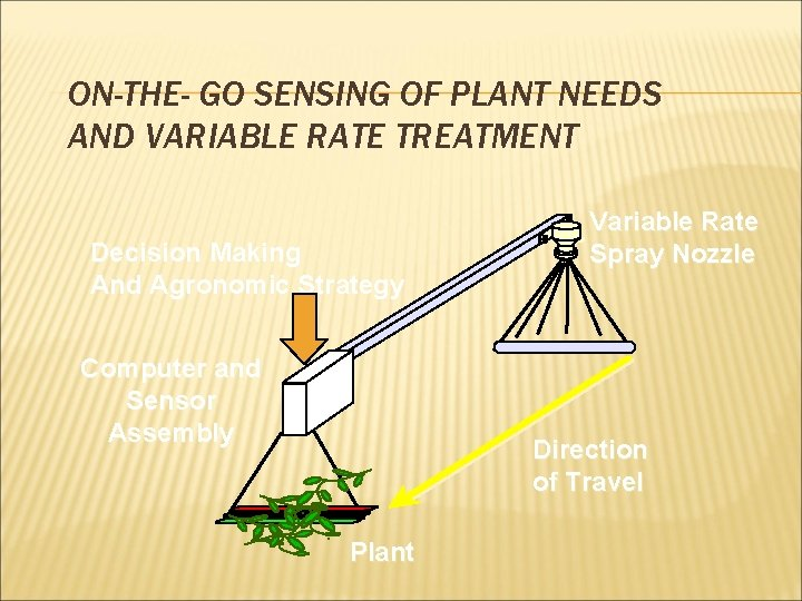 ON-THE- GO SENSING OF PLANT NEEDS AND VARIABLE RATE TREATMENT Decision Making And Agronomic