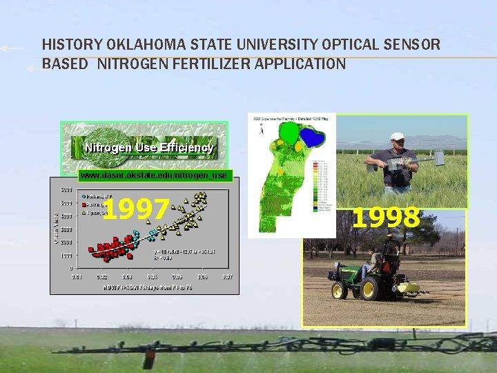 HISTORY OKLAHOMA STATE UNIVERSITY OPTICAL SENSOR BASED NITROGEN FERTILIZER APPLICATION www. dasnr. okstate. edu/nitrogen_use
