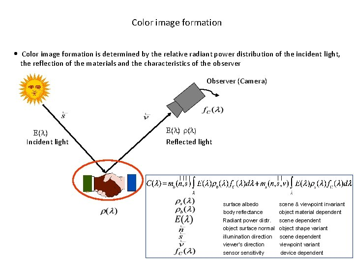 Color image formation • Color image formation is determined by the relative radiant power