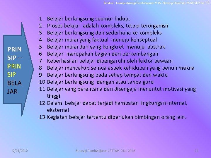 Sumber : konsep strategi Pembelajaran // Dr. Nanang Hanafiah, M. M Pd // hal