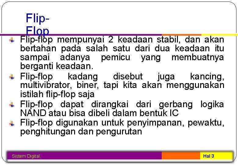Sistem Digital Flipflop Sistem Digital Hal 1 Kelompok