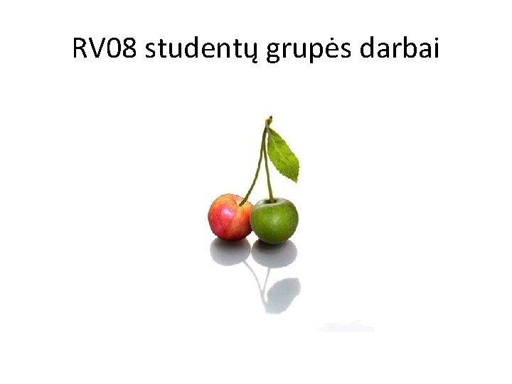 RV 08 studentų grupės darbai
