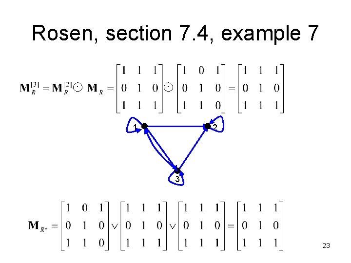 Rosen, section 7. 4, example 7 1 2 3 23