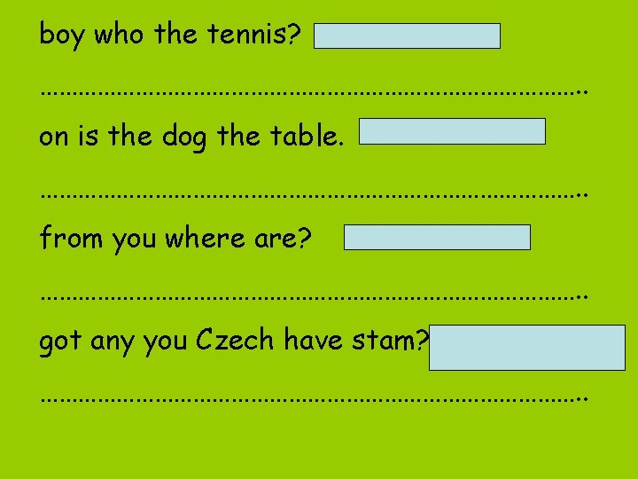 boy who the tennis? Who is the boy? ……………………………………. . on is the dog