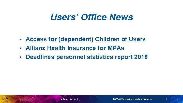 Users' Office News Access for (dependent) Children of Users • Allianz Health Insurance for