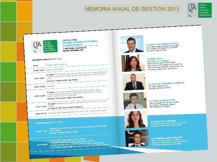 MEMORIA ANUAL DE GESTIÓN 2013