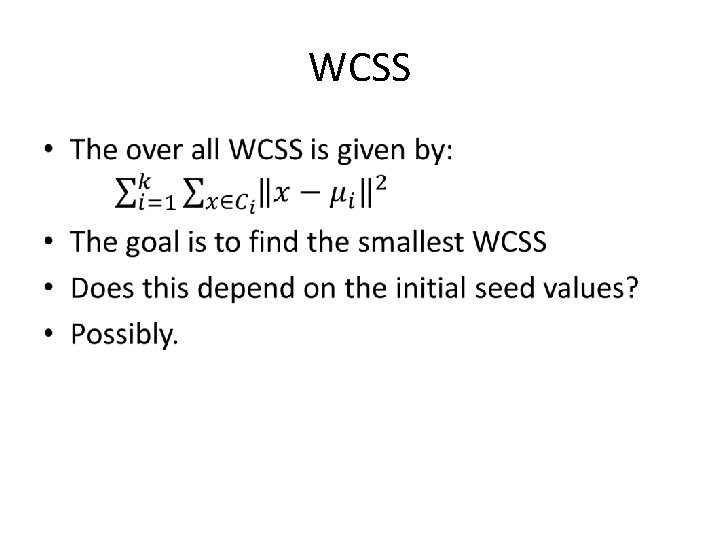 WCSS •