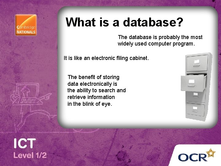 What is a database? The database is probably the most widely used computer program.
