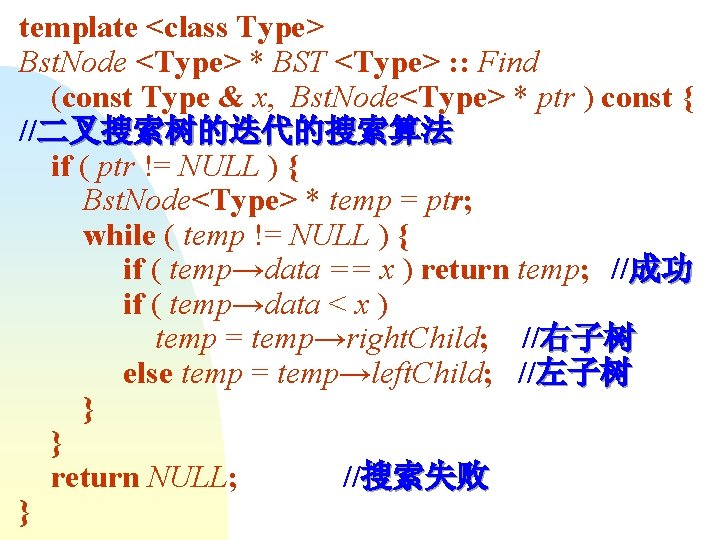 template <class Type> Bst. Node <Type> * BST <Type> : : Find (const Type