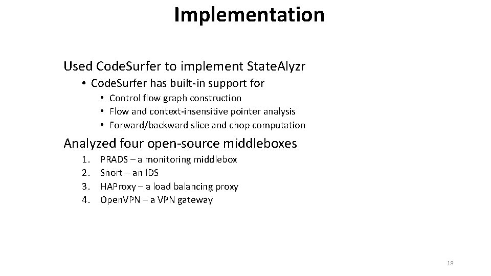 Implementation Used Code. Surfer to implement State. Alyzr • Code. Surfer has built-in support