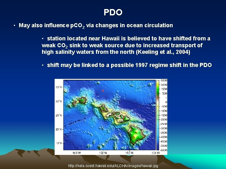 PDO • May also influence p. CO 2 via changes in ocean circulation •