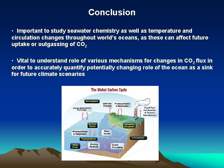 Conclusion • Important to study seawater chemistry as well as temperature and circulation changes