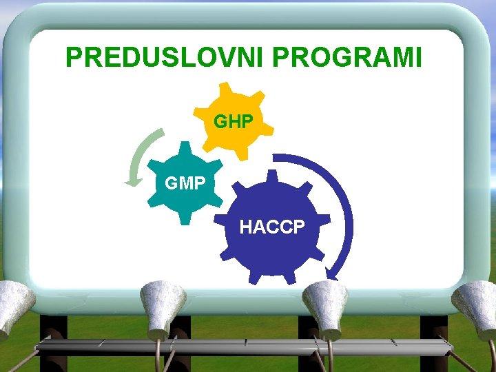 PREDUSLOVNI PROGRAMI GHP GMP HACCP